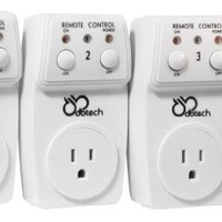 DB-Tech Wireless Remote Control 120V AC Outlet Switch Socket for Use With All Electronics, Appliances, Lighting and Electrical Equipment - Radio Frequency Technology Works Through Walls Up To 60 feet Away *Battery Included*