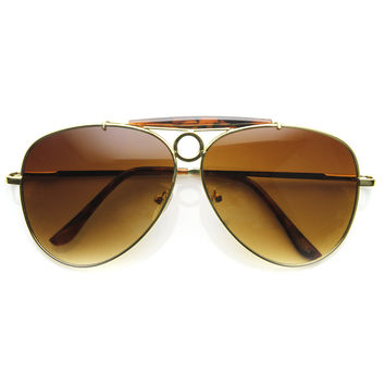 Large Retro Mens Cowboy Rodeo Aviator Sunglasses 8833