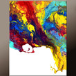 Abstract Canvas Art Painting 18x24 Original Contemporary Modern Art Paintings by Destiny Womack - dWo -  On The Edge