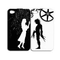 Movie Phone Case Cute Split Pair Couple Case Funny iPod Case Cute iPhone 4 Case iPhone 5 Case Adorable iPhone 4s Case 90s iPhone 5s Case