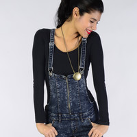 Acid Wash Overalls - Bottoms - Clothing