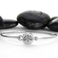 Tree Bracelet, Silver Cuff, Tree Charm, Silver Bangle, Branch, Sterling Bracelet, Family Tree, Tree, Bracelet, Bangle, Cuff, Jewelry, Gift