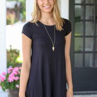 Here and There Dress  - Black