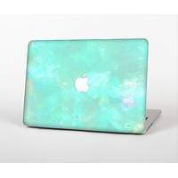 The Bright Teal WaterColor Panel Skin Set for the Apple MacBook Pro 15""