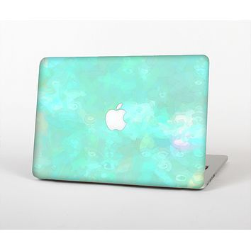 The Bright Teal WaterColor Panel Skin Set for the Apple MacBook Air 11""
