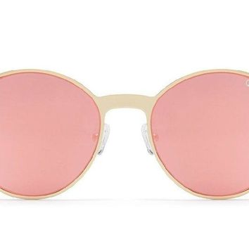 Quay Here We Are Gold Sunglasses / Rose Lenses