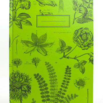 Vintage Botany Notebook (100% Recycled Paper) Eco Journal Plants Ecology Lab Doctor Student Science Nature Biology Diagrams