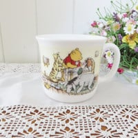 Winnie the Pooh  christening  vintage 1980's mug gift  for a child
