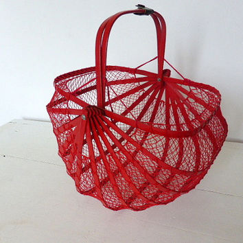 Vintage French Folding Basket