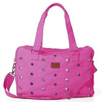 Victoria's Secret Pink Studded Canvas Tote Duffle Bag