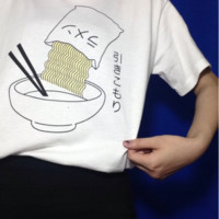 Free Shipping Ramen shirt (S-XL) tops