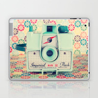 Film Mint Camera on a Colourful Retro Background  Laptop & iPad Skin by Andreka Photography | Society6