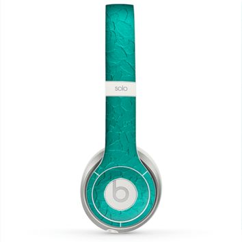 The Teal Stamped Texture Skin for the Beats by Dre Solo 2 Headphones