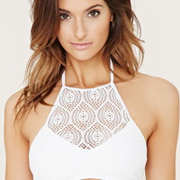 Crochet High-Neck Bikini Top | Forever 21 - 2000183262