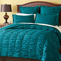 Truffle Quilted Bedding - Spruce