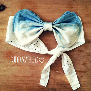 Bow Bandeau Top Bikini Cover Up Size MEDIUM by UnraveledClothing