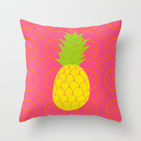 Pineapple Throw Pillow by Ariel Lark | Society6