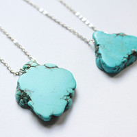 Turquoise Nugget Stone Necklace