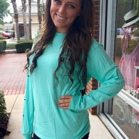 "Simply Southern ""The Classic"" Long Sleeve - Sky"