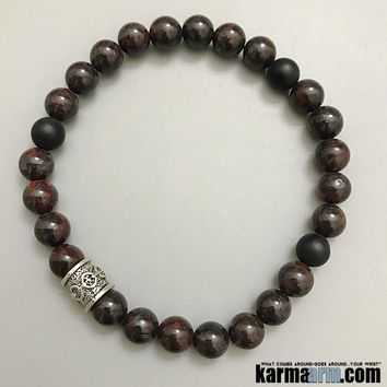COURAGE: Bloodstone | Black Onyx | Yoga Chakra Bracelet
