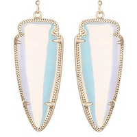 Skylar Earrings in Clear Iridescent - Kendra Scott Jewelry