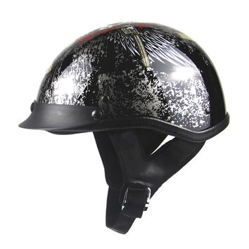 New Vintage German Style Half Helmet Retro Motorcycle Helmet Cruiser Scooter Bike Touring Chopper Casco Moto Helmet Capacete DOT