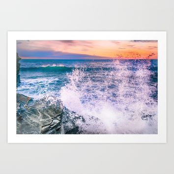 Surf Atlantic Rocky Coast Art Print by Svetlana Korneliuk