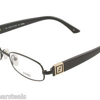 NEW AUTHENTIC FENDI F 905 F905 COL 001 BLACK METAL EYEGLASSES FRAME