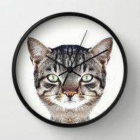 Cat Wall Clock by Danny Ivan