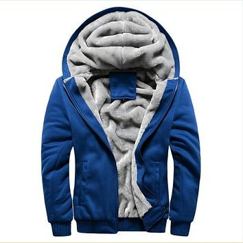Thick Wool windbreaker Men's Warm Winter Coats Hoodies Sweatshirts Cotton Polo Bomber Jackets Sportswear Tracksuits For Men 5XL