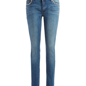 Michael Michael Kors Stud Accented Skinny Jeans