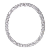 ReneSim Diamond Necklace with Brilliant-Cut Diamonds of Approximately 60ct G VS1