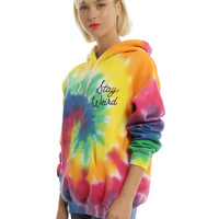 Stay Weird Tie Dye Girls Hoodie