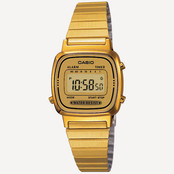 Casio Vintage Collection La670 Watch Gold One Size For Men 24816462101