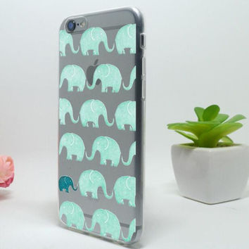 Cute Green Elephant Mobile Phone Case For Iphone 7 5c 5 5s SE 6 6s 6plus 6s plus + Nice gift box!