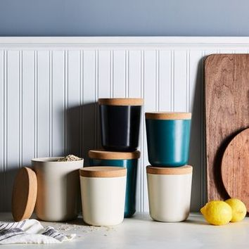 Recycled Bamboo & Cork Canisters