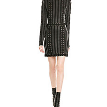 Balmain - Mini Dress with Lace-Up Detail