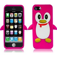 3D Animal Silicone Cover Gel Case For iPhone 5C