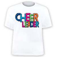 Youth Girls' and Women's Printed Cheer Leader Colors Jersey T-Shirt