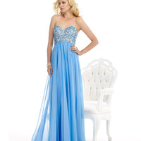 Sky Blue Strapless Gown Prom 2015