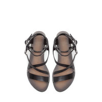 LEATHER STRAP SANDALS - Shoes - TRF   ZARA United States
