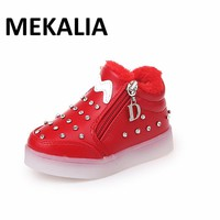 kids Luminous shoes USB Charger led shoes lights shoes girls glowing sneakers children casual sports shoes Eur 25-35