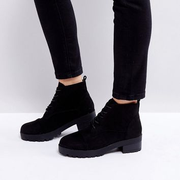 Truffle Collection Lace Up Low Ankle Boot at asos.com