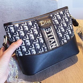Dior New fashion more letter leather chain shoulder bag women