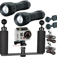 BigBlue Underwater LED Light System Kit for Action Video Camera $369.95