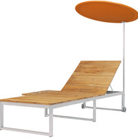 Oko Sun Lounger with Tray and Shade