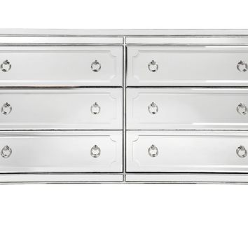 Simplicity Mirrored 6 Drawer Chest | Mirrored Furniture | Furniture | Z Gallerie
