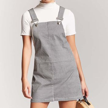 Gingham Mini Overall Dress