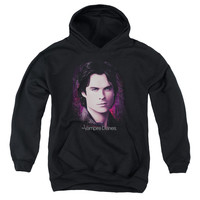 VAMPIRE DIARIES/COMPELLING-YOUTH PULL-OVER HOODIE - BLACK -