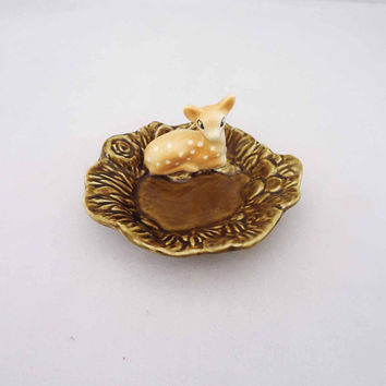 Sylvac Deer Dish, Sylvac English Faun Trinket Dish
